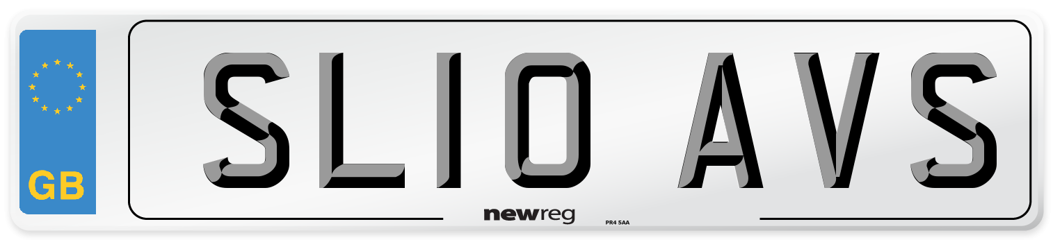 SL10 AVS Number Plate from New Reg