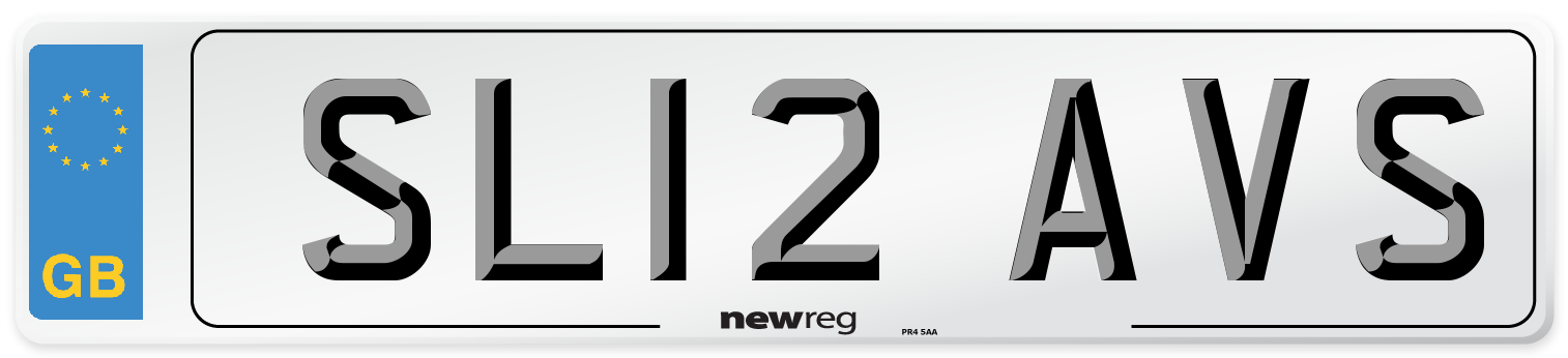 SL12 AVS Number Plate from New Reg