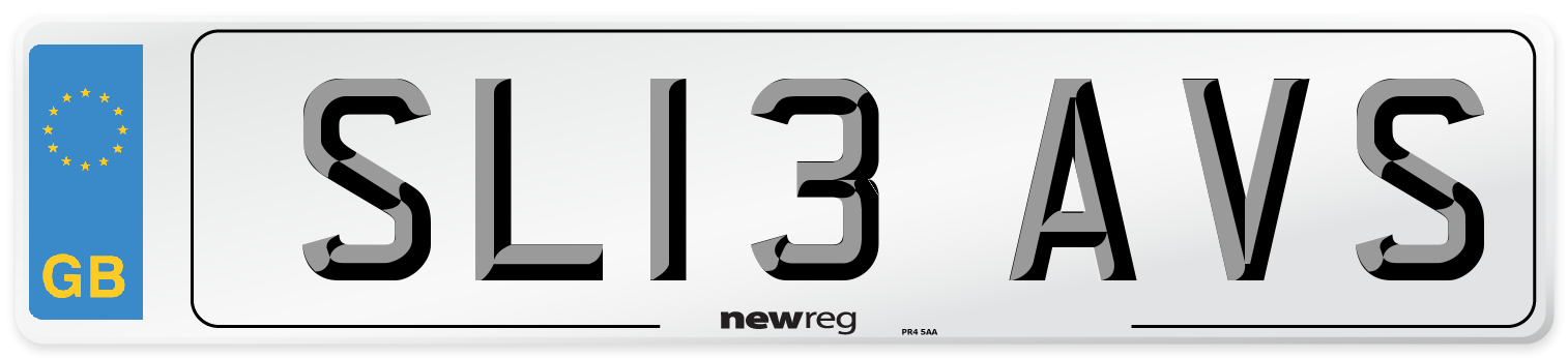 SL13 AVS Number Plate from New Reg