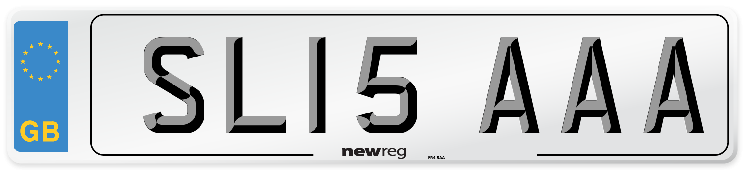SL15 AAA Number Plate from New Reg