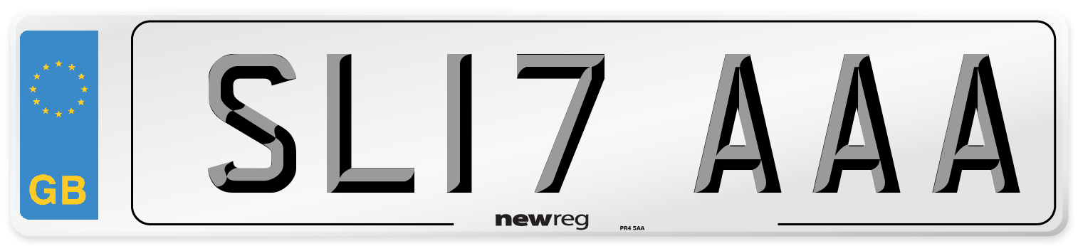 SL17 AAA Number Plate from New Reg