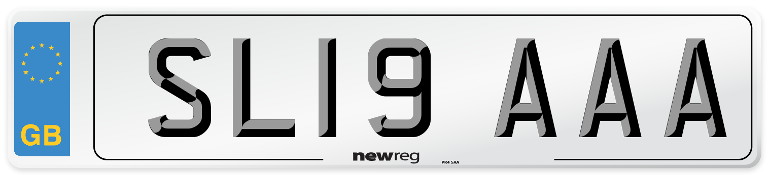 SL19 AAA Number Plate from New Reg