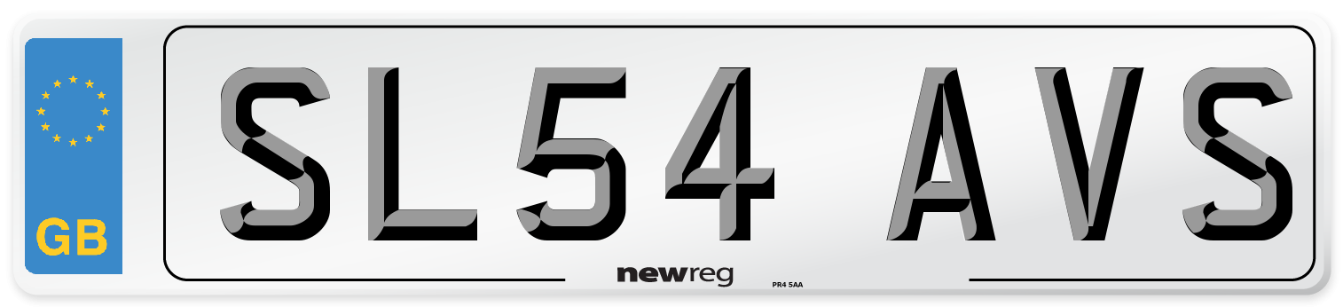 SL54 AVS Number Plate from New Reg