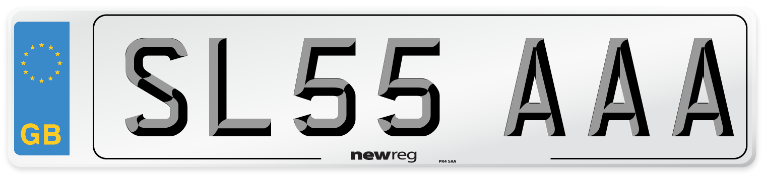 SL55 AAA Number Plate from New Reg