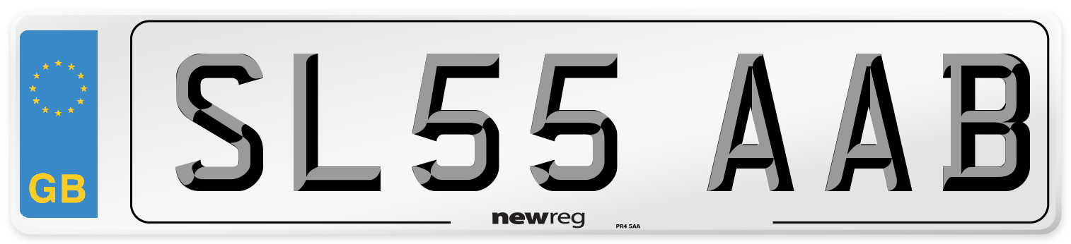 SL55 AAB Number Plate from New Reg