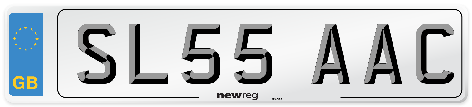 SL55 AAC Number Plate from New Reg