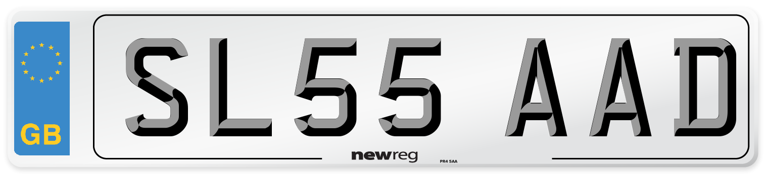 SL55 AAD Number Plate from New Reg