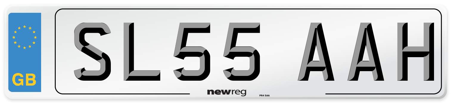 SL55 AAH Number Plate from New Reg