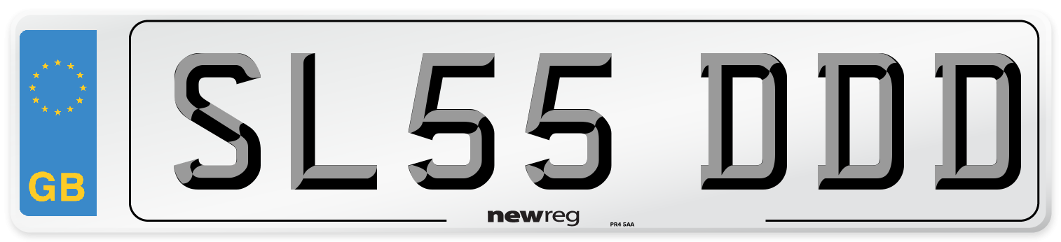 SL55 DDD Number Plate from New Reg