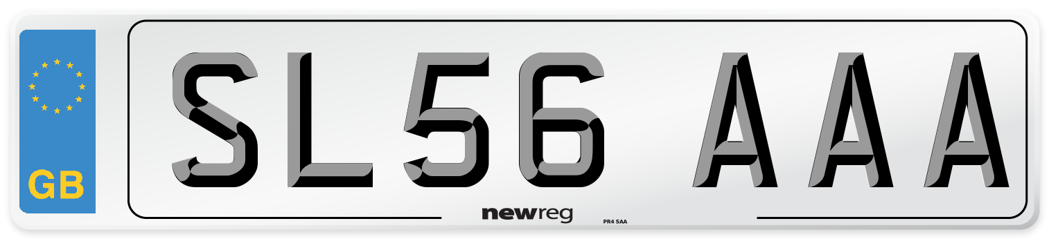 SL56 AAA Number Plate from New Reg