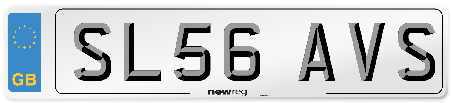 SL56 AVS Number Plate from New Reg