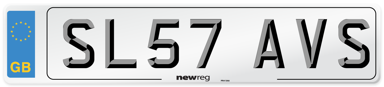 SL57 AVS Number Plate from New Reg