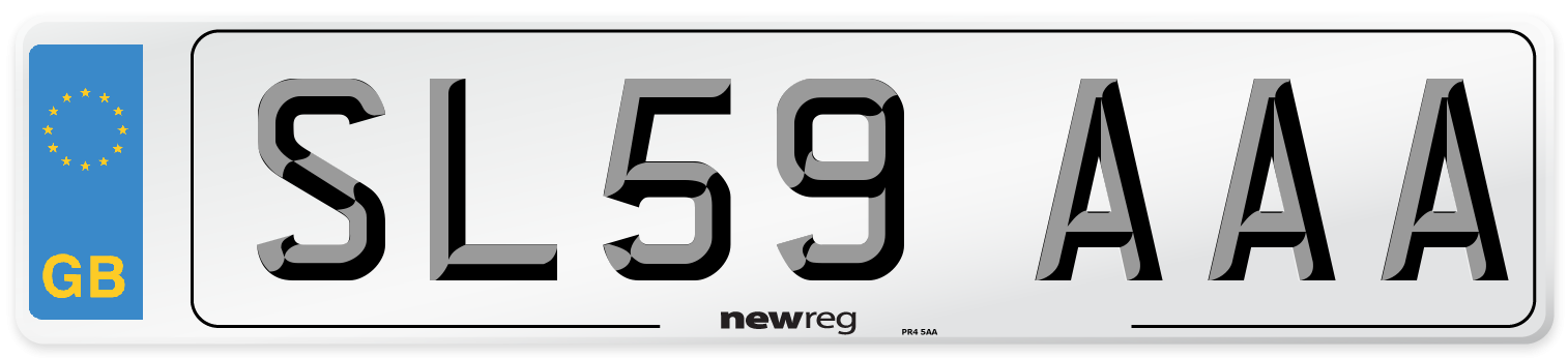SL59 AAA Number Plate from New Reg