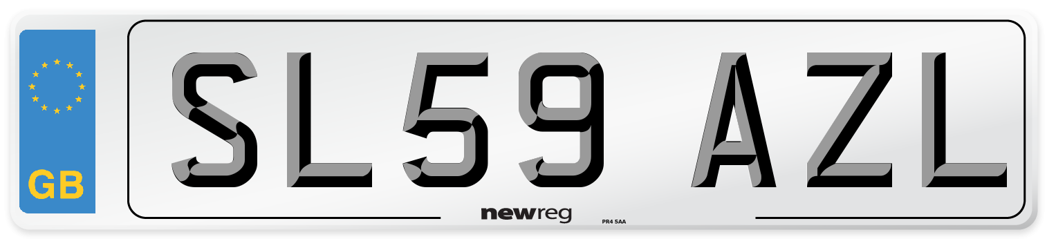 SL59 AZL Number Plate from New Reg