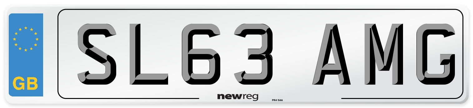 SL63 AMG Number Plate from New Reg