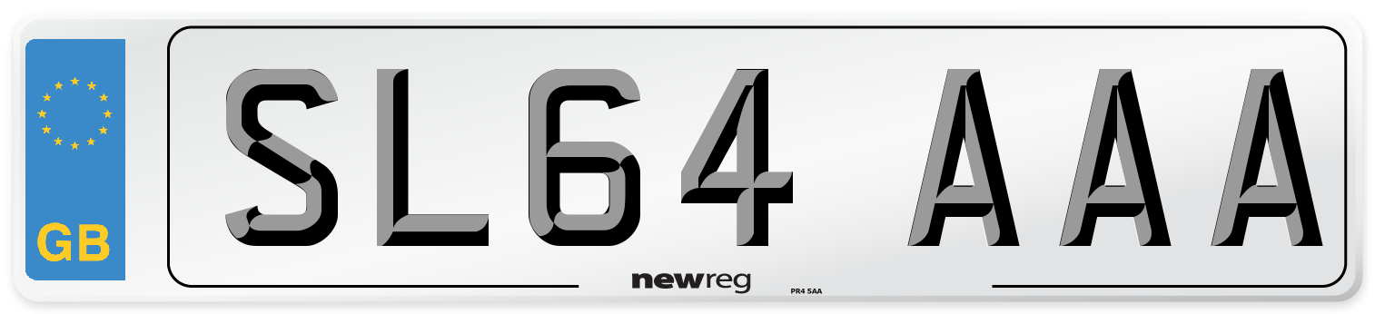 SL64 AAA Number Plate from New Reg