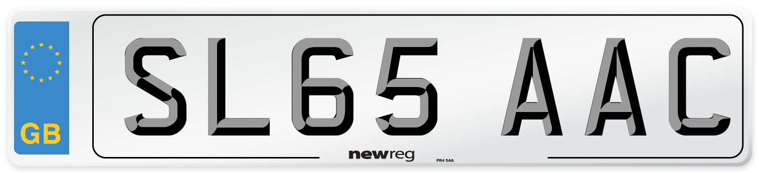 SL65 AAC Number Plate from New Reg
