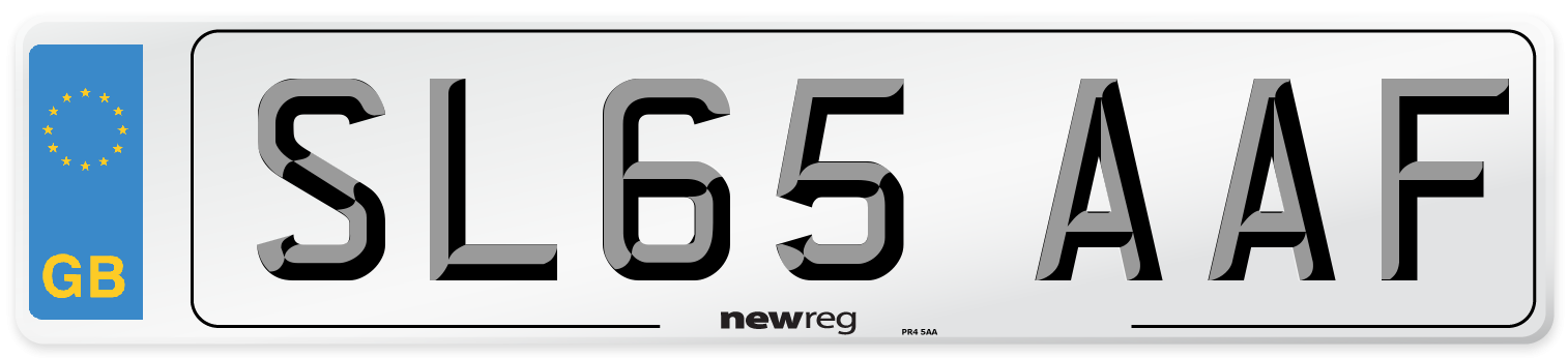 SL65 AAF Number Plate from New Reg