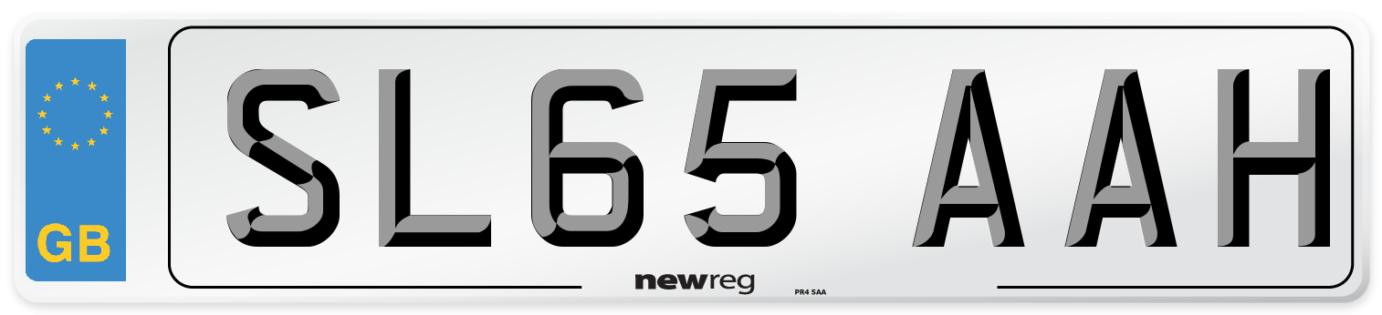 SL65 AAH Number Plate from New Reg