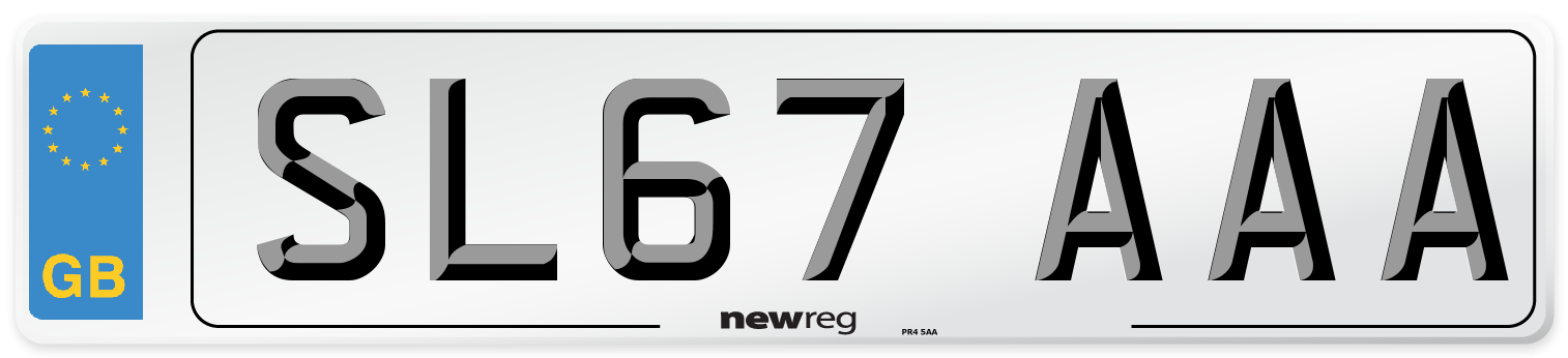 SL67 AAA Number Plate from New Reg