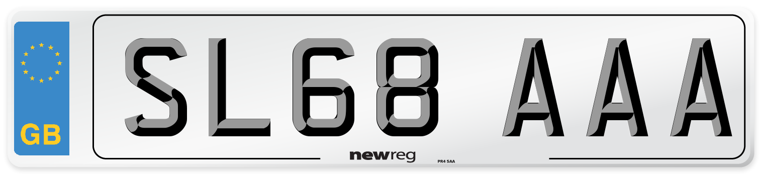 SL68 AAA Number Plate from New Reg