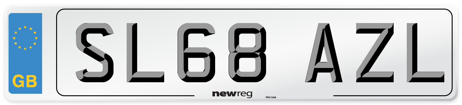 SL68 AZL Number Plate from New Reg