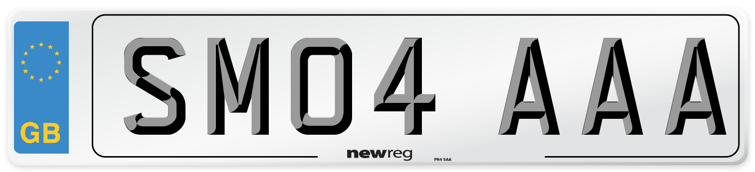 SM04 AAA Number Plate from New Reg