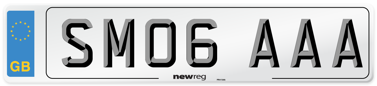 SM06 AAA Number Plate from New Reg