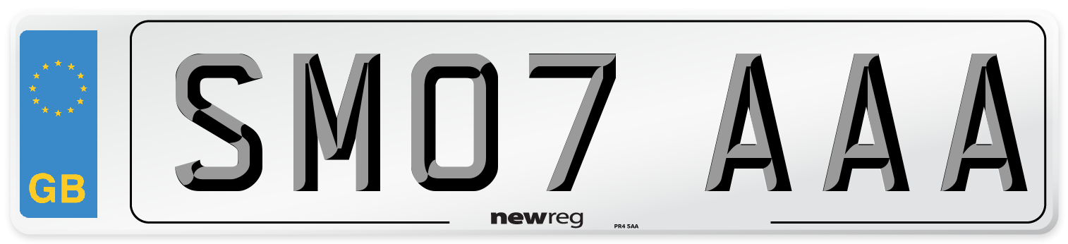 SM07 AAA Number Plate from New Reg