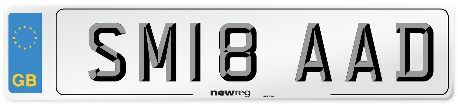 SM18 AAD Number Plate from New Reg