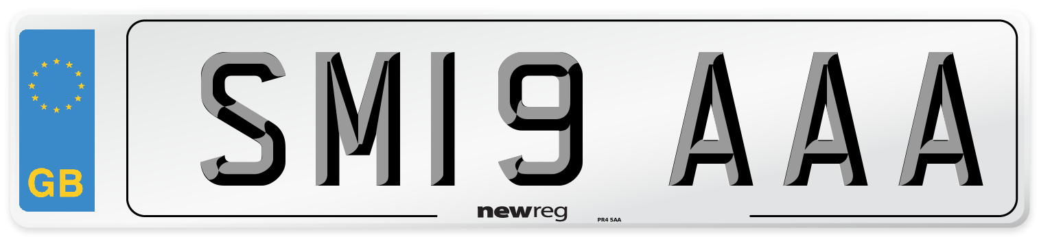 SM19 AAA Number Plate from New Reg
