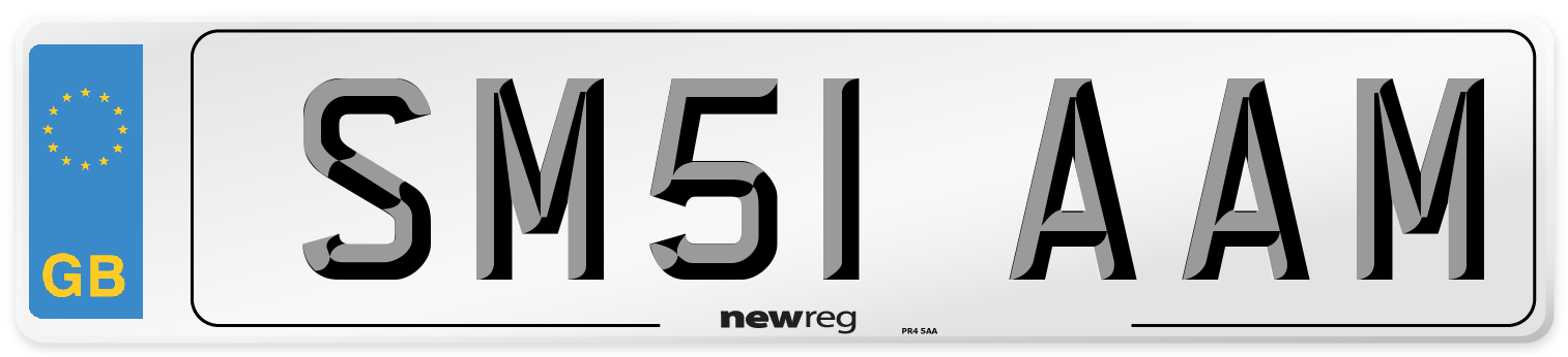SM51 AAM Number Plate from New Reg