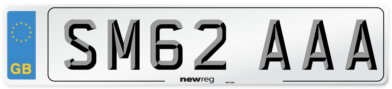 SM62 AAA Number Plate from New Reg