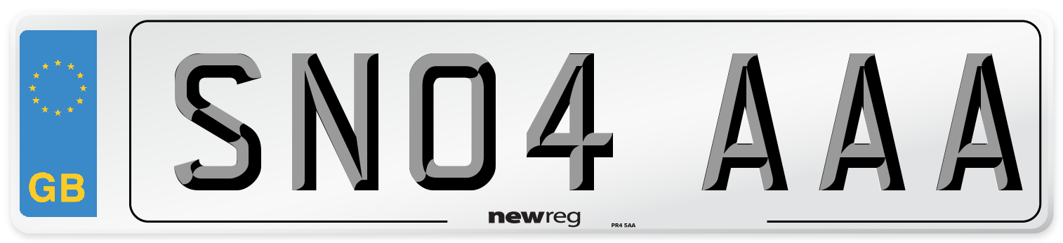SN04 AAA Number Plate from New Reg