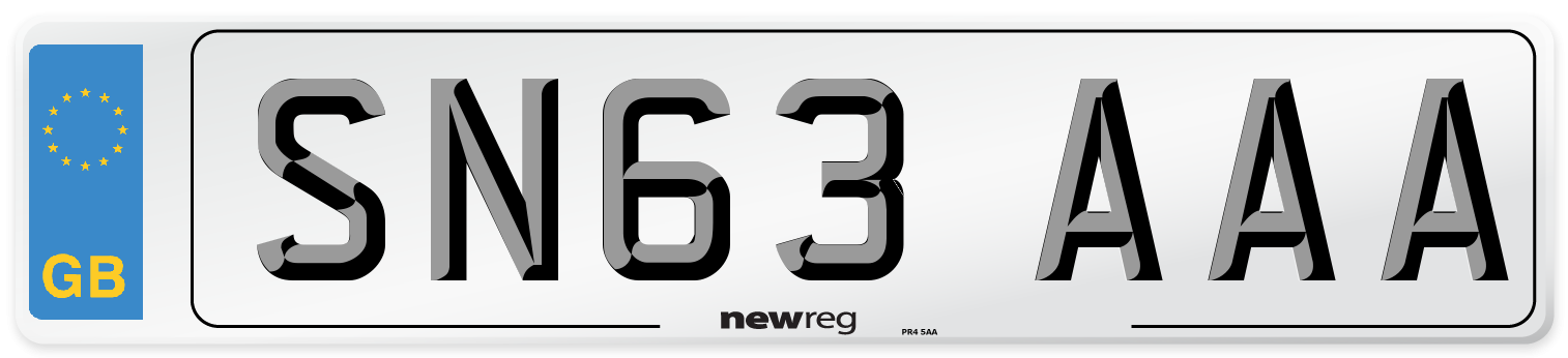 SN63 AAA Number Plate from New Reg