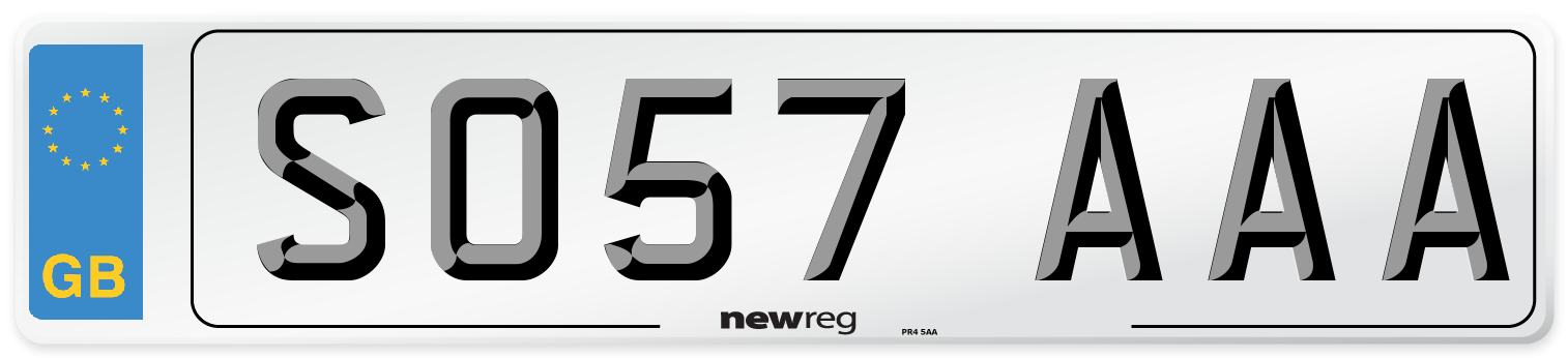 SO57 AAA Number Plate from New Reg