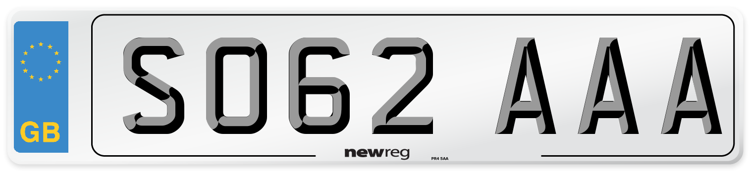 SO62 AAA Number Plate from New Reg
