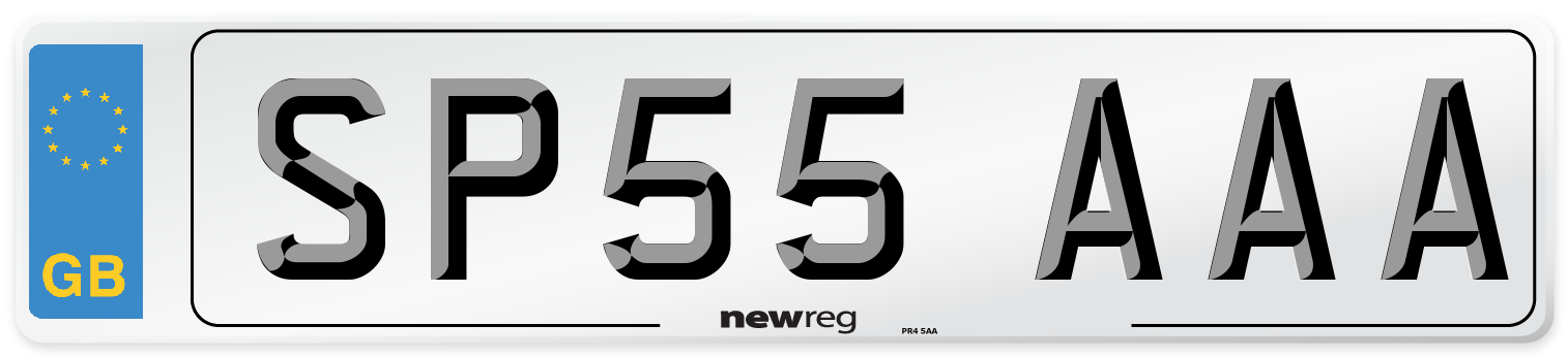 SP55 AAA Number Plate from New Reg