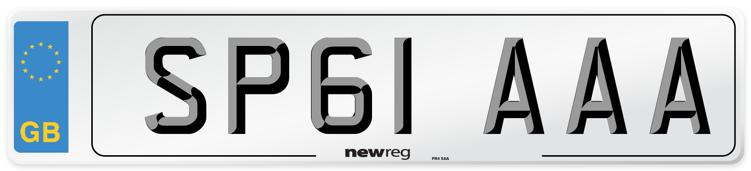 SP61 AAA Number Plate from New Reg