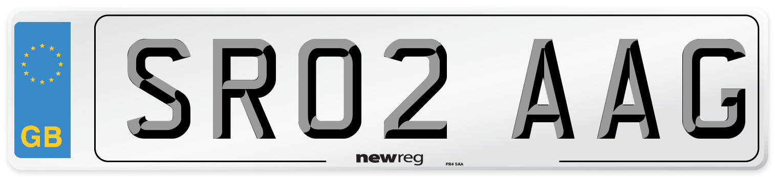 Front Number Plate from New Reg