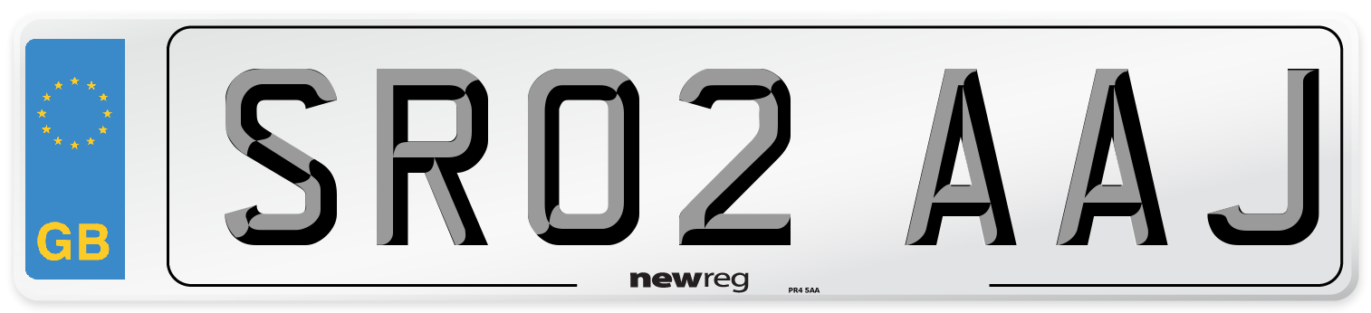 SR02 AAJ Number Plate from New Reg