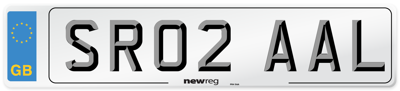 SR02 AAL Number Plate from New Reg