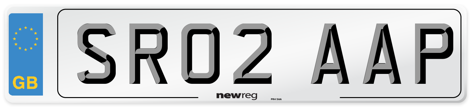 SR02 AAP Number Plate from New Reg