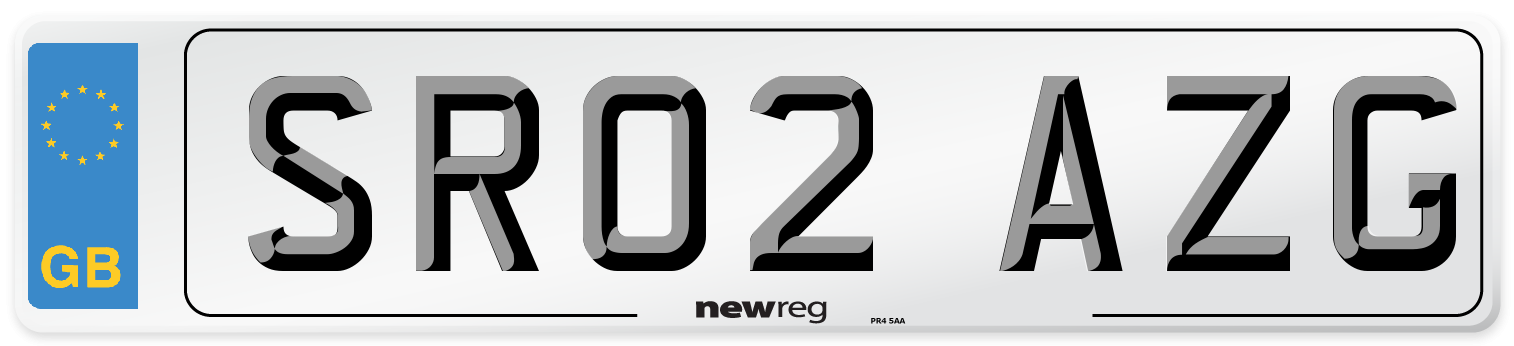 SR02 AZG Number Plate from New Reg