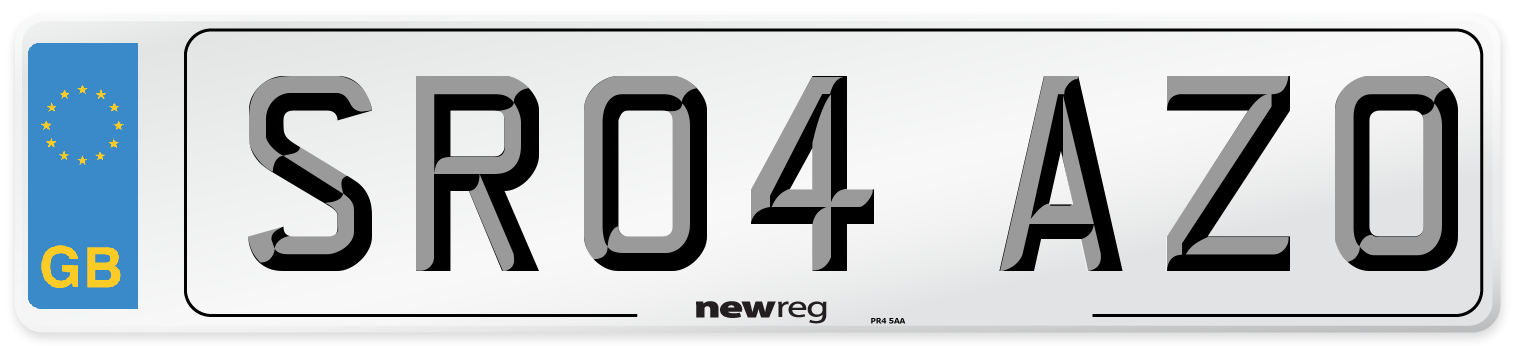SR04 AZO Number Plate from New Reg