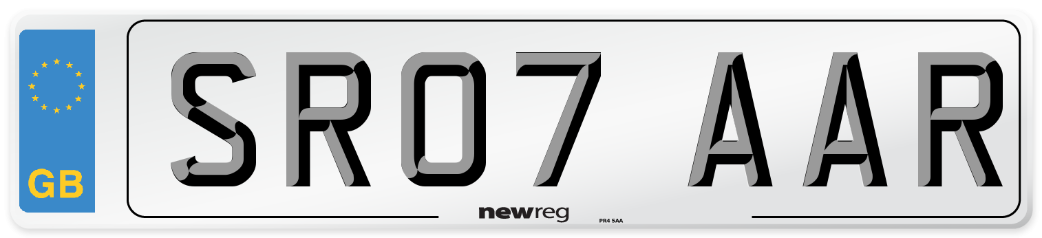 SR07 AAR Number Plate from New Reg