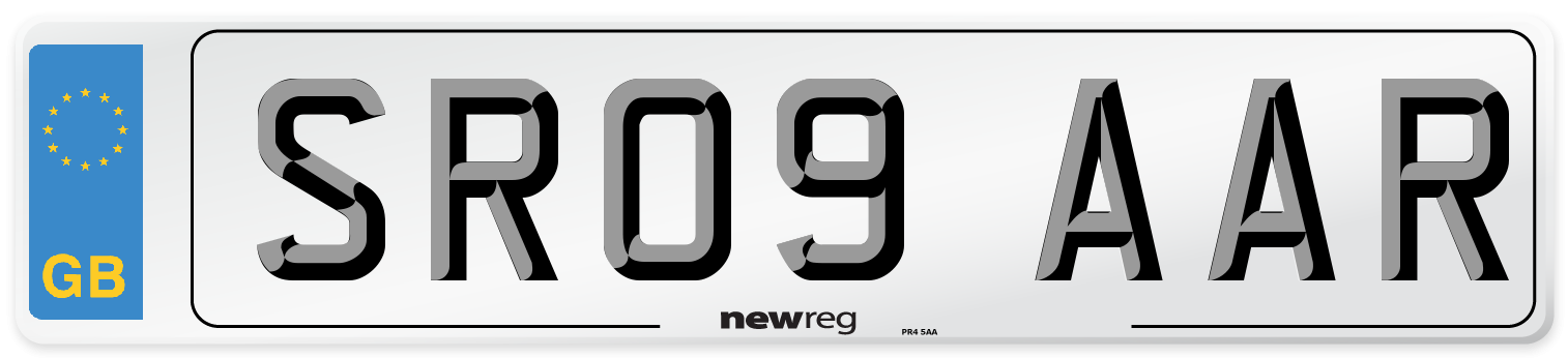 SR09 AAR Number Plate from New Reg