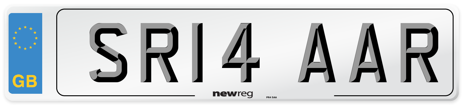 SR14 AAR Number Plate from New Reg