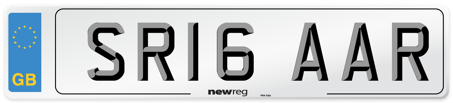 SR16 AAR Number Plate from New Reg
