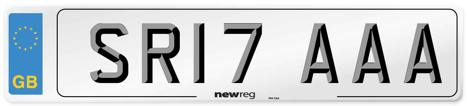 SR17 AAA Number Plate from New Reg